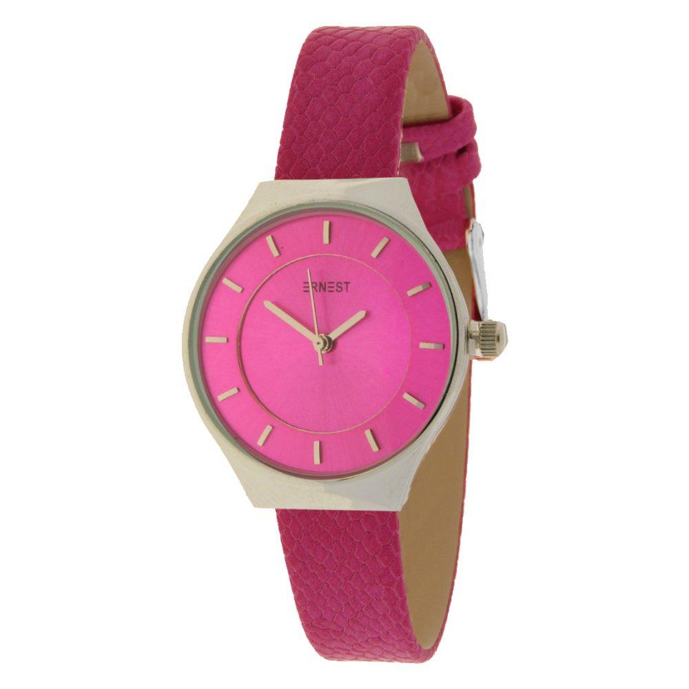 Ernest dames horloge Borgos roze zilver