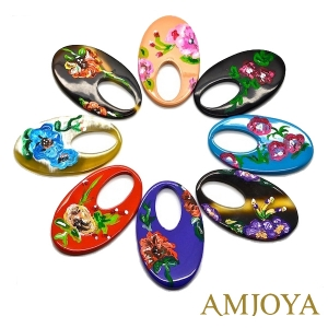Amjoya oorbellen flower '70