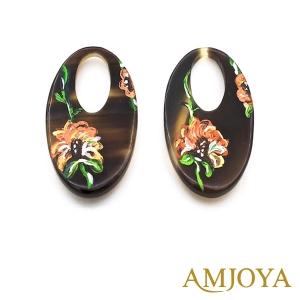 Amjoya Oorbellen Flower bruin 3