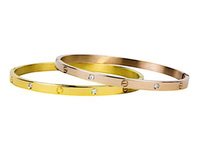 """Kalli Kalli armband 2065 """"Cartier"""" 4mm goud"""
