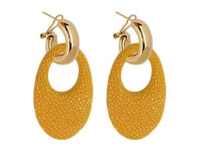 Amjoya Oorbellen Marbella geel goud